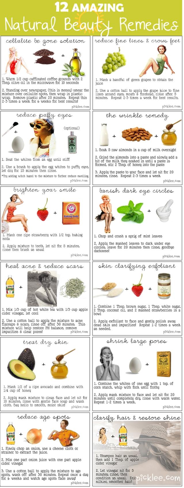 12 asombrosos remedios naturales de belleza