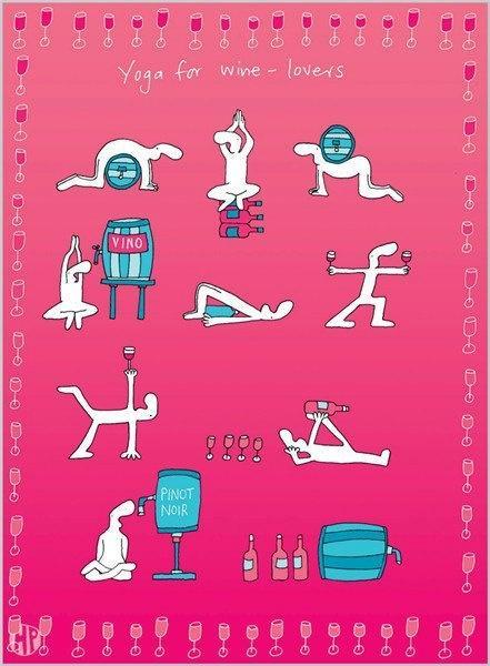 Yoga para amantes del vino
