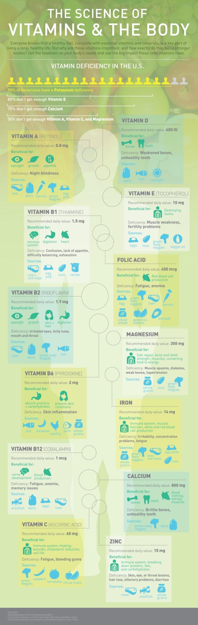 La ciencia de las vitaminas y el cuerpo
