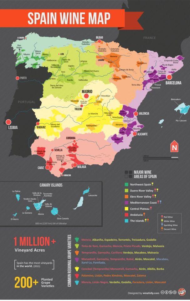 Mapa del vino en España